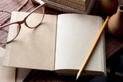 nature journal - stock photo