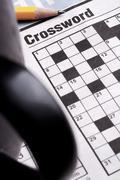 Crossword puzzle game Stock Photos