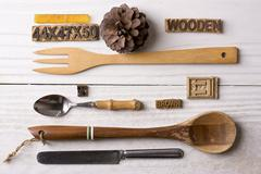 Composition of kitchenware Stock Photos