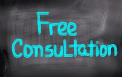 free consultation concept - stock illustration