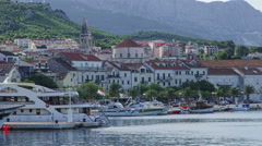 Panorama of Makarska Stock Footage