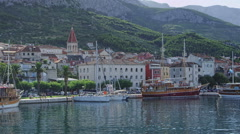 Makarska panorama Stock Footage