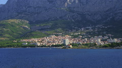 Makarska residental area Stock Footage