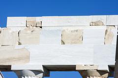 Reconstruction work on parthenon temple Stock Photos