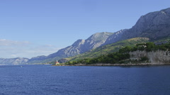 Lighthouse near Makarska Stock Footage