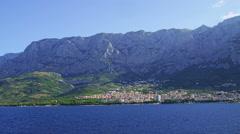 Panorama of Makarska Stock Footage