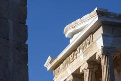temple of athena nike in athens - stock photo