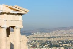 temple of athena nike in greece close up - stock photo