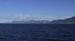 Mountains sea side Stock Footage