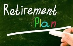 retirement plan concept - stock illustration