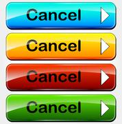 vector cancel buttons - stock illustration