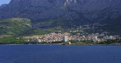4K Makarska residental area Stock Footage