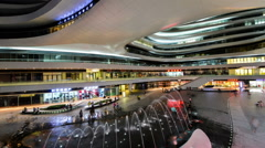 The customers are full of Galaxy SOHO near the Second Ring road in Beijing, Stock Footage