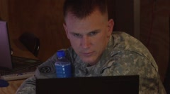 Coalition Command Team on Computers  (HD) Stock Footage