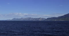 4K Mountains sea side Stock Footage