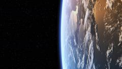Flying Over The Earth. 4K. Loop. Stock Footage