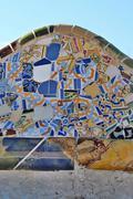 ceramic mosaic pattern - stock photo