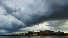 Storm clouds in the city - stock footage