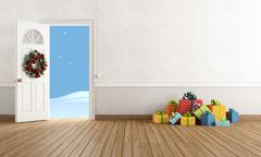 Christmas interior Stock Illustration