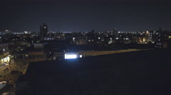 Manhattan Skyline at Night from Williamsburg Brooklyn New York City NYC 4K Stock Footage