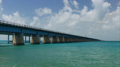 New seven miles bridge in Florida, USA - stock footage