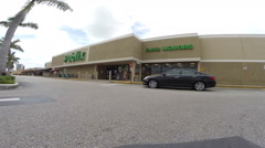 Walkthrough publix slow motion 1 Stock Footage