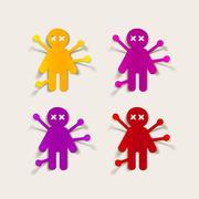 Realistic design element: voodoo Doll Stock Illustration