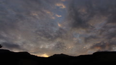 Mountain clouds time laps 03 rauris Stock Footage