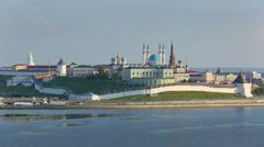 Kazan kremlin at sunset - russia Stock Footage