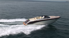 Aerial view of boat navigating  Stock Footage