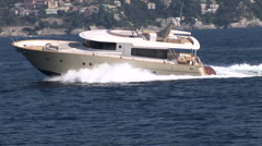 Luxury boat navigating fast  - stock footage