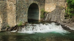 Rio Ara river in the Torla in Valle de Ordesa valley Pyrenees Stock Footage