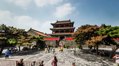 The famous Phoenix Tower in Forbidden City of Shenyang, China - stock footage