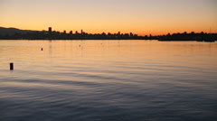 English Bay Dawn Paddle - stock footage