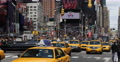 Ultra HD 4K Crowded Rush Hour Car Traffic Times Square New York City Busy Street Footage