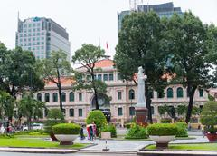 saigon central post office, vietnam - stock photo