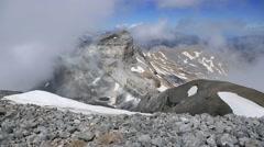 Cilindro de Marbore from Monte Perdido, Pyrenees Stock Footage