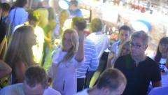 People dancing in the club Stock Footage