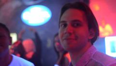 People dancing in the club - stock footage