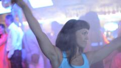 Girl dancing in the club Stock Footage