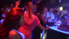 Girls dancing in the club - stock footage