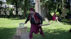 Presentation of the Turkish swords Stock Footage
