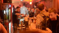 People bar in club Stock Footage