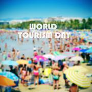 world tourism day - stock illustration