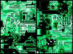 circuit boards - stock photo