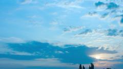 Summer sunrise timelapse - stock footage