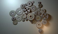 australian cogwheel machine - stock illustration