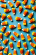 colorful candy corn for halloween - stock photo