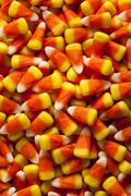 Stock Photo of colorful candy corn for halloween