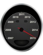 Illustration of years odometer, 2015 year Stock Illustration